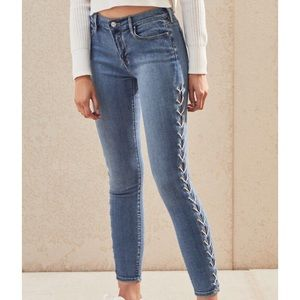 NWT Pacsun Lace Up Skinny Denim Jeans Size 22 00 0